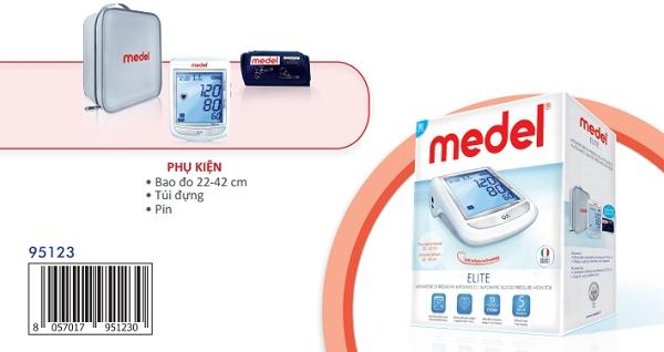 Tính năng của các chỉ số trên màn hình hiển thị Máy đo huyết áp bắp tay Medel Elite (Italy)