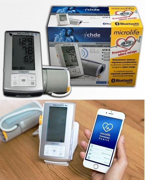 Máy đo huyết áp bắp tay Microlife A6 BT tích hợp công nghệ Bule-tooth hỗ trợ ứng dụng quản lý dữ liệu trên điện thoại thông minh