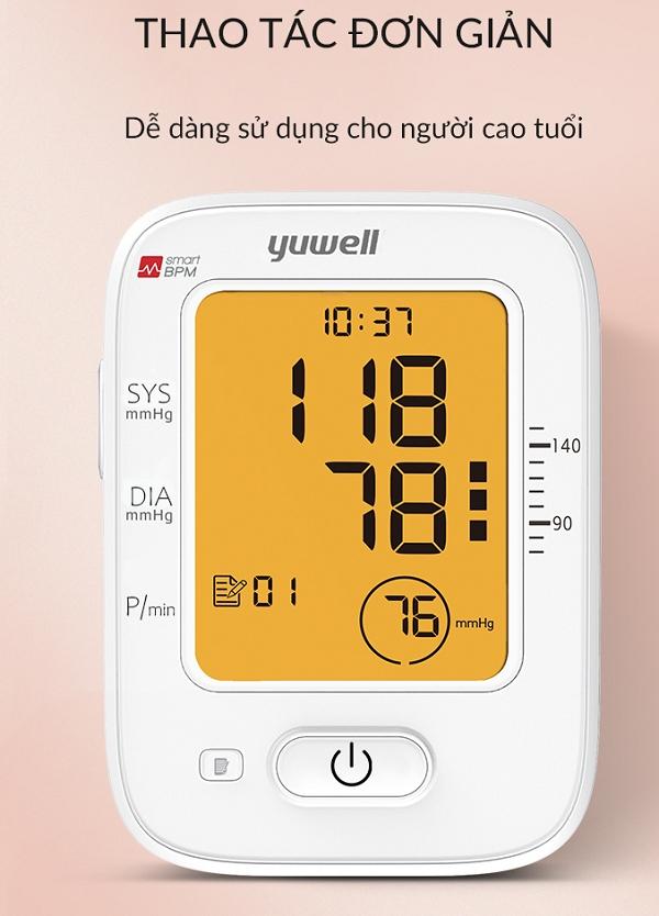 Yuwell 620B dễ dàng sử dụng với chỉ một nút bấm