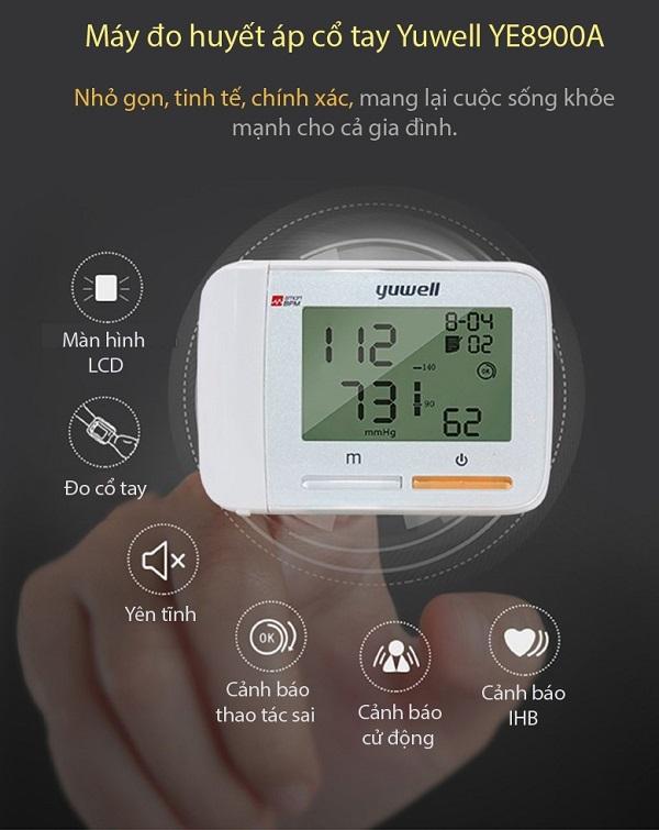 Máy đo huyết áp cổ tay Yuwell YE8900A