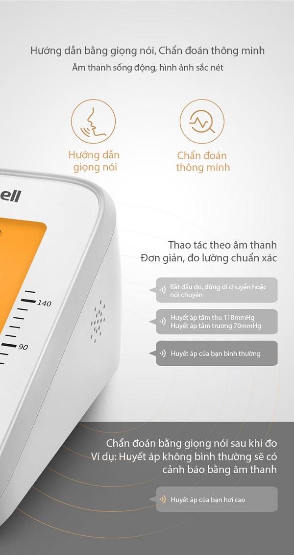 Máy đo huyết áp điện tử bắp tay Yuwell YE660F - 5
