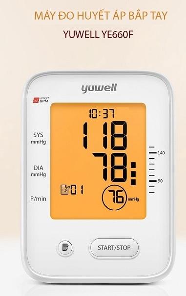Máy đo huyết áp điện tử bắp tay Yuwell YE660F - 1