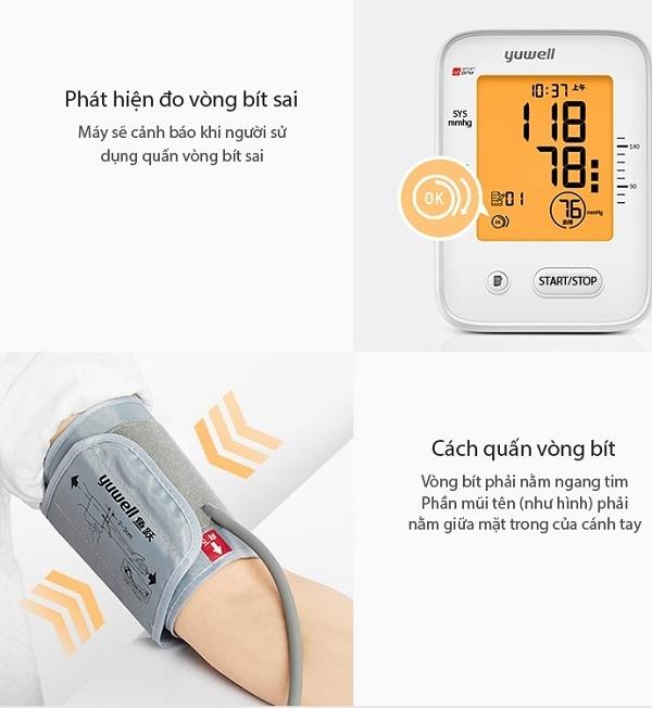 Máy đo huyết áp điện tử bắp tay Yuwell YE660F - 6