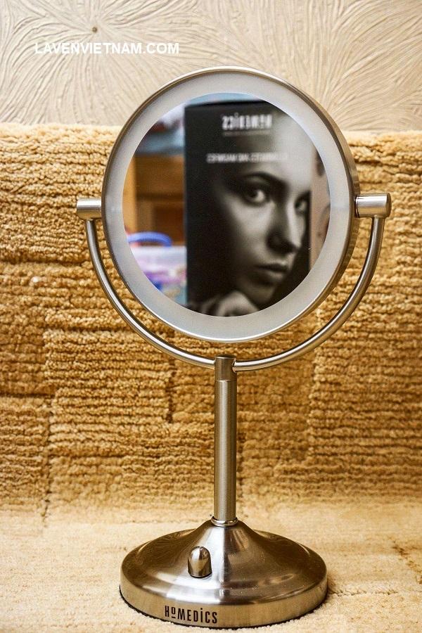 Gương trang điểm HoMedics Double-Sided Dimmable Mirror