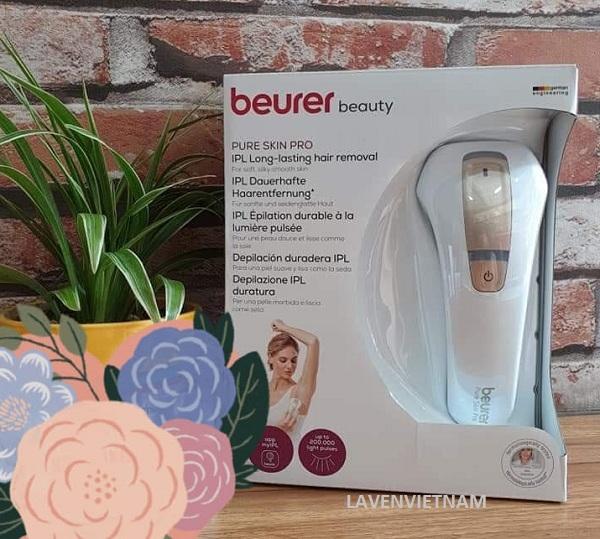 Thiết bị triệt lông Beurer có trang bị bộ cảm biến màu da.