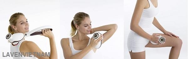 Thông qua các động tác nhịp nhàng và cường độ cao, Máy massage Beurer MG510 chuẩn bị cho các cơ bắp cho một buổi tập thể dục chuyên sâu và giúp thư giãn chúng