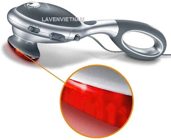 Điều chỉnh tốc độ, cường độ và lựa chọn nhiệt hồng ngoại để massage nếu bạn muốn ở Beurer MG70