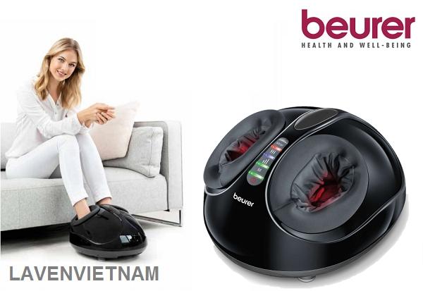 Máy massage chân Beurer FM90 shiatsu mô phỏng nhắm vào các điểm áp lực để giảm căng thẳng và khuyến khích cảm giác hạnh phúc tổng thể.