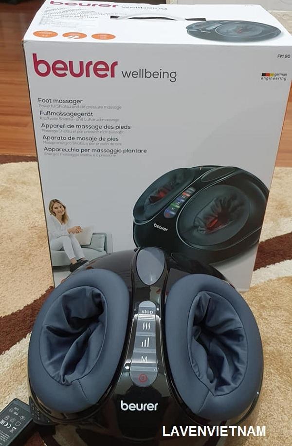 Tính năng làm ấm ngón chân lạnh và khuyến khích thư giãn cơ sâu và thúc đẩy lưu thông của Beurer FM90