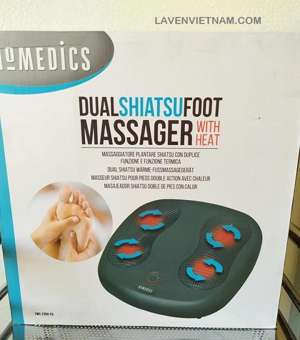 Đầu massage xoay - 12 nút massage giúp massage sâu các vòm và thực vật