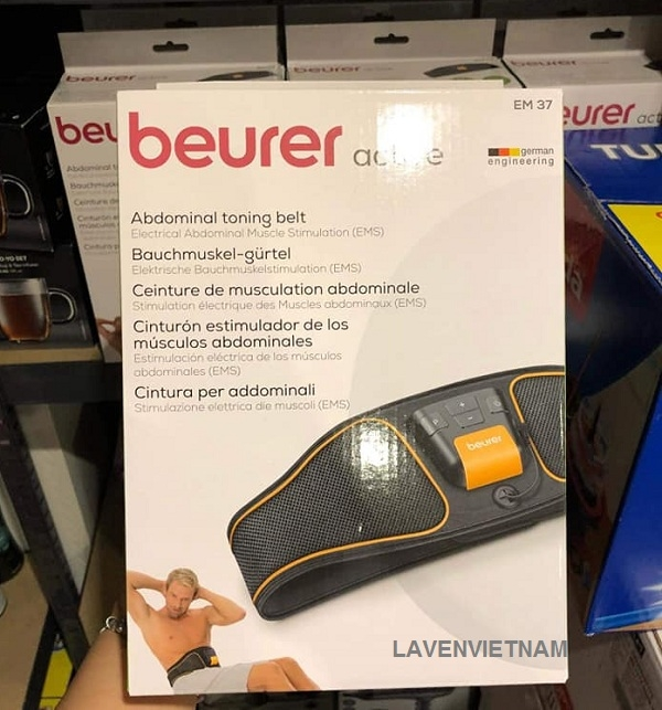 Beurer EM37 EMS đã được sử dụng trong lĩnh vực thể thao và thể dục trong nhiều năm. Làm nóng các cơ, định nghĩa cơ, làm săn chắc cơ và da và thư giãn cơ