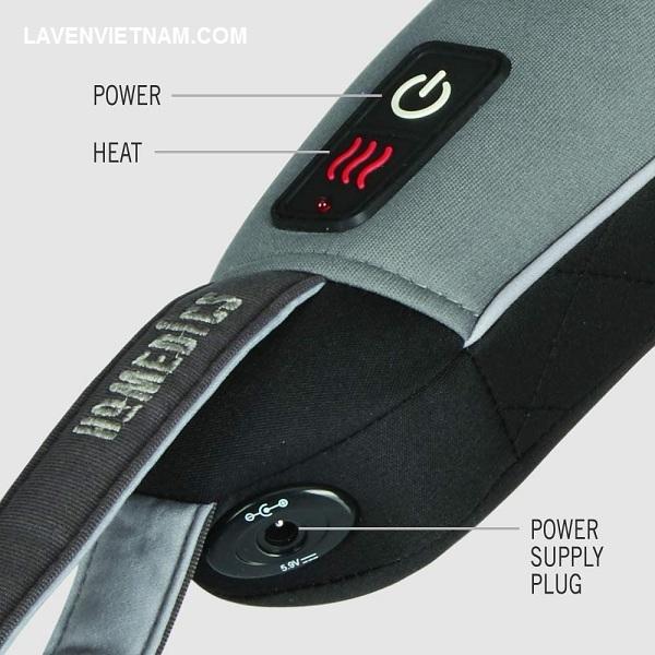 Nút điều chỉnh nhiệt và phần cắm nguồn