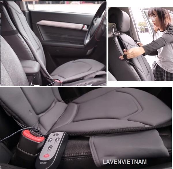 Đệm massage dành cho ô tô Beurer MG155 có chế độ Massage rung khỏe mạnh