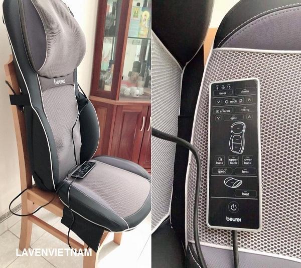 Bề mặt của máy mát xa bọc ghế được làm bằng da PU mềm, nhung mềm và lưới thoáng khí
