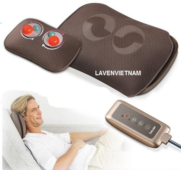 Gối mát xa Beurer MG147 có điều khiển cho một liệu pháp massage hiệu quả và thư giãn trên toàn cơ thể