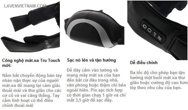 """Máy massage cổ và vai gáy cao cấp HoMedics NMS-680HJ """"Thumbs up""""™ công nghệ SHIATSU 3D Tru Touch không dây Pin sạc (chuyên nghiệp)"""