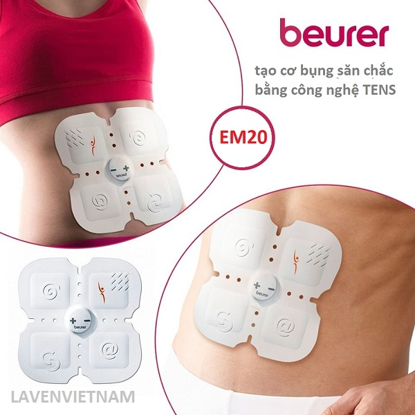 Nhờ có 15 cấp độ ở Beurer EM20, bạn có thể chọn cường độ của các đợt điều trị, kéo dài 20 phút.