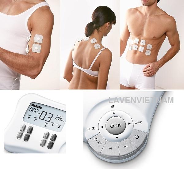 Máy massage xung điện Beurer EM80 được trang bị 3 chức năng kích thích điện: TENS, EMS, massage. Bạn cũng có thể tùy chỉnh các chương trình riêng lẻ theo nhu cầu của mình