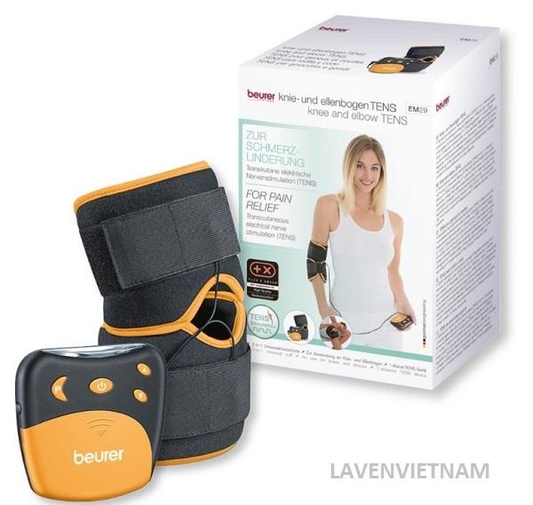 Máy massage xung điện Beurer EM29 kích thích điện từ giảm đau ở đầu gối và khuỷu tay (công nghệ TENS)