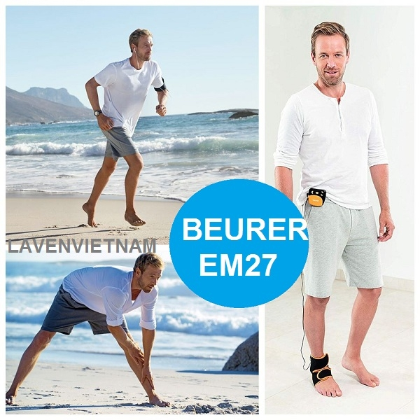 Điều trị đau mắt cá chân hiệu quả với Máy xung điện Beurer EM27