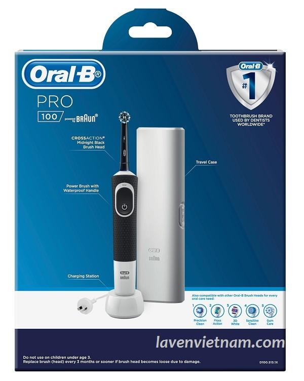 Bàn chải đánh răng điện Oral_B Pro 100