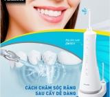 Công nghệ sóng âm từ máy tăm nước làm sạch răng miệng hiệu quả không ngờ