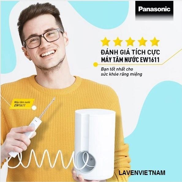 Máy tăm nước công nghệ sóng âm Panasonic EW1611 nhận được nhiều review tích cực từ Nha khoa và người dùng trên khắp thế giới