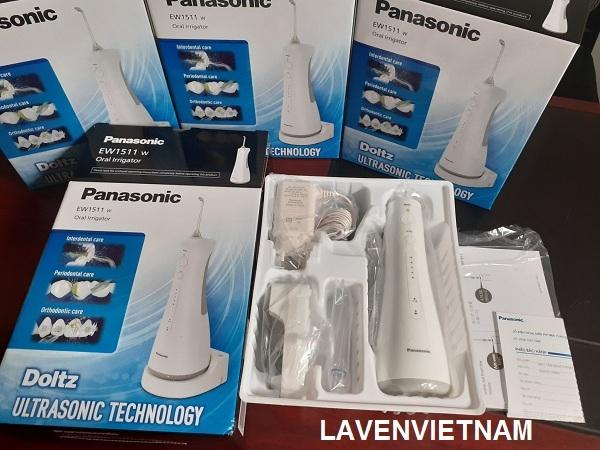 Tia nước công nghệ siêu âm của máy tăm nước du lịch Panasonic EW1511 giúp loại bỏ vi khuẩn gây bệnh ở túi nha chu