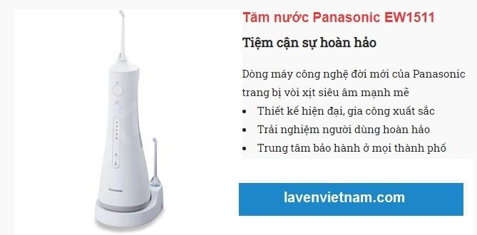 Review đánh giá về chất lượng hiệu quả của Máy tăm nước Panasonic EW1511 công nghệ sóng âm