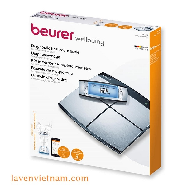 Cân phân tích cơ thể Beurer BF105 Bluetooth