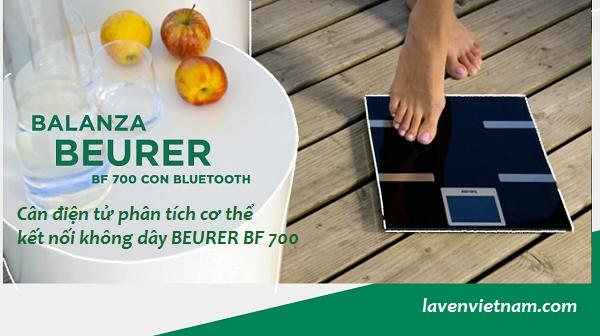 Cân phân tích cơ thể Beurer BF700 Bluetooth Trọng lượng có thể được sử dụng với Ứng dụng quản lý sức khỏe beurer HealthManager