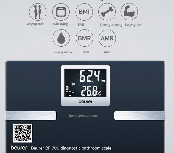 Cân phân tích cơ thể Beurer BF700 Bluetooth