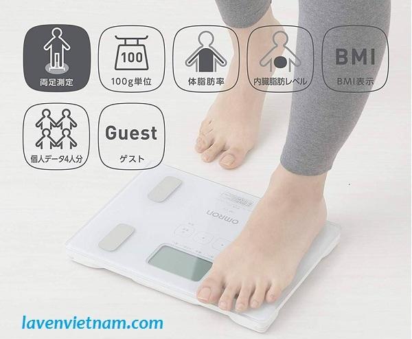 Cân đo lượng mỡ cơ thể Omron HBF-214