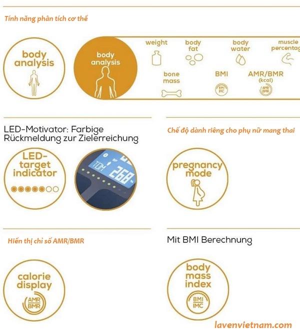 Cân phân tích cơ thể Beurer BF950 Bluetooth