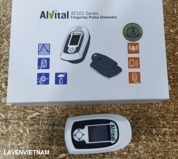 Máy đo nồng độ oxy SpO2 và nhịp tim Alvital AT101