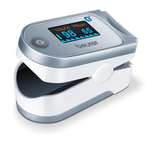 Beurer PO60 Bluetooth chức năng kết nối với Smartphone thông qua cổng Bluetooth, cho bạn dễ dàng kiểm soát được tình trạng bệnh lý, thông qua việc đọc và lưu kết quả trên điện thoại.
