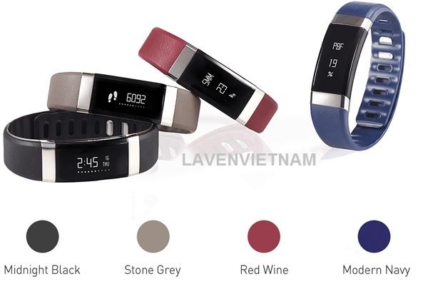 INBODY BAND 2 có 4 màu: màu xám, màu đen, màu đỏ, màu xanh nước biển.