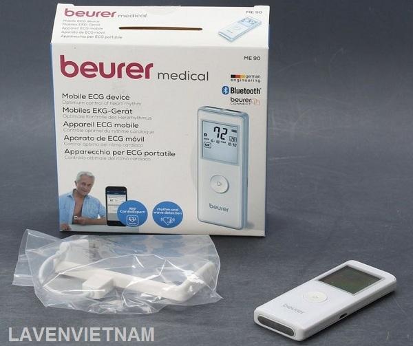 Máy đo điện tâm đồ Beurer ME90 Có 36 không gian bộ nhớ, tự động tắt và chỉ báo pin yếu