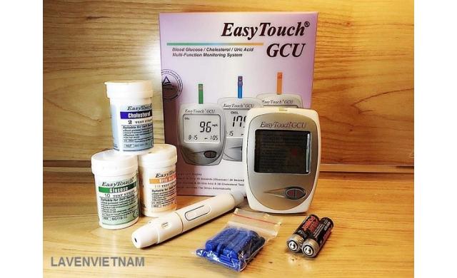 Máy đo đường huyết, mỡ máu, gout EasyTouch ET322