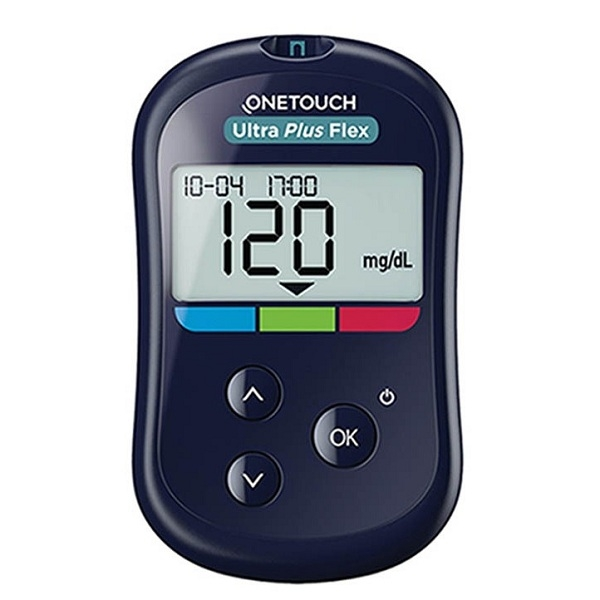 Máy đo đường huyết Onetouch Ultra Plus Flex Kiểm tra nhanh chóng và chính xác với mẫu máu nhỏ và một nút bấm