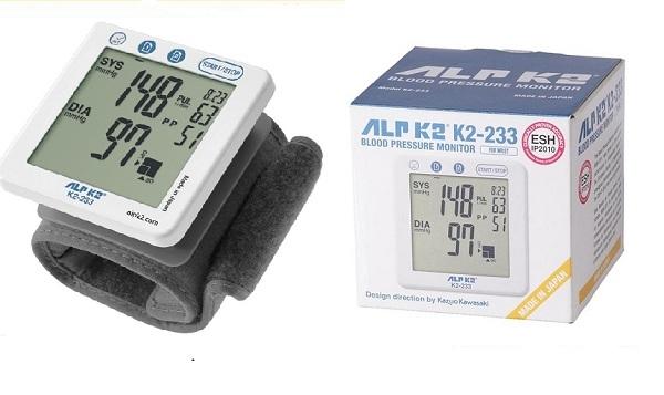Máy đo huyết áp cổ tay ALPK2 K2-233 (Nhật Bản)