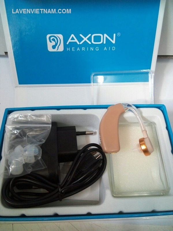 Máy trợ thính Axon C108 đeo vành tai có sạc