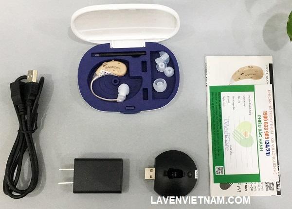 Hình ảnh trọn bộ sản phẩm Máy trợ thính iMedicare iHA-E1
