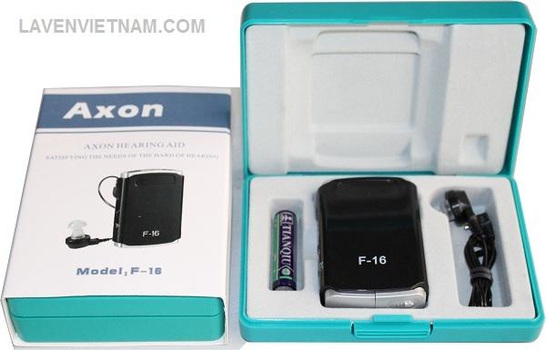 Trọn bộ sản phẩm Máy trợ thính có dây Axon F-16