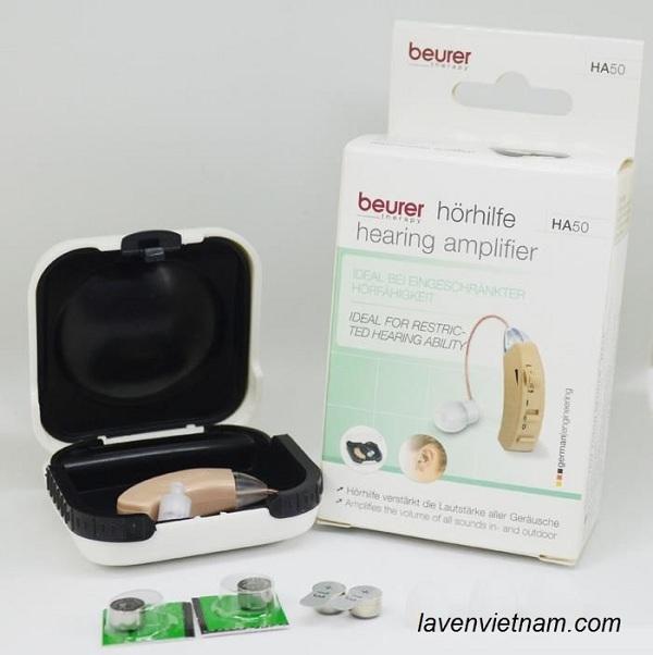 Máy trợ thính Beurer HA50 có 3 chế độ nghe, dễ dàng điều chỉnh cho phù hợp tình trạng giảm thính lực