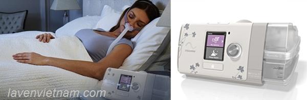 Máy trợ thở ResMed AirSense 10 AutoSet trị liệu ngưng thở khi ngủ cho nữ