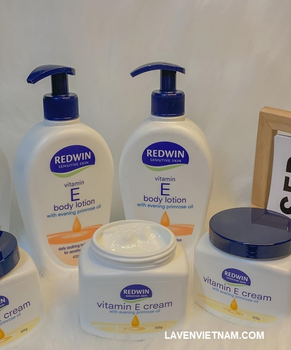 Kem dưỡng ẩm da Redwin vitamin E kết hợp với tinh dầu hoa anh thảo