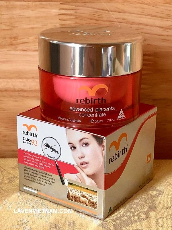 Nuôi dưỡng sâu và làm mềm làn da của bạn với kem nhau thai cô đặc, chất dinh dưỡng, squalene, vitamin V, E và liposome