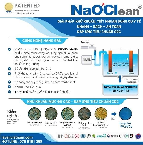 Máy tạo nước khử khuẩn NaOClean DES-10K