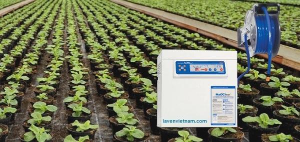 Thiết bị tạo dung dịch điện phân NaOClean giúp điều trị và phòng ngừa các bệnh ở cây trồng, thực vật mà không gây hại đến môi trường.